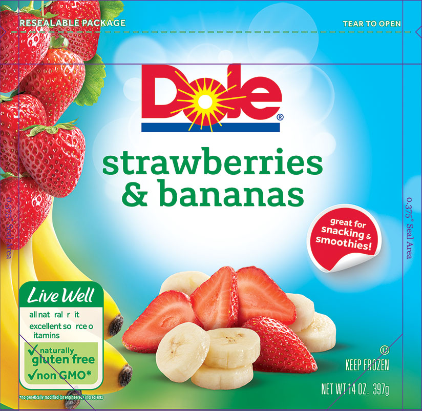 6086 Dole Strawberries Bananas Frozen 14oz 1-1