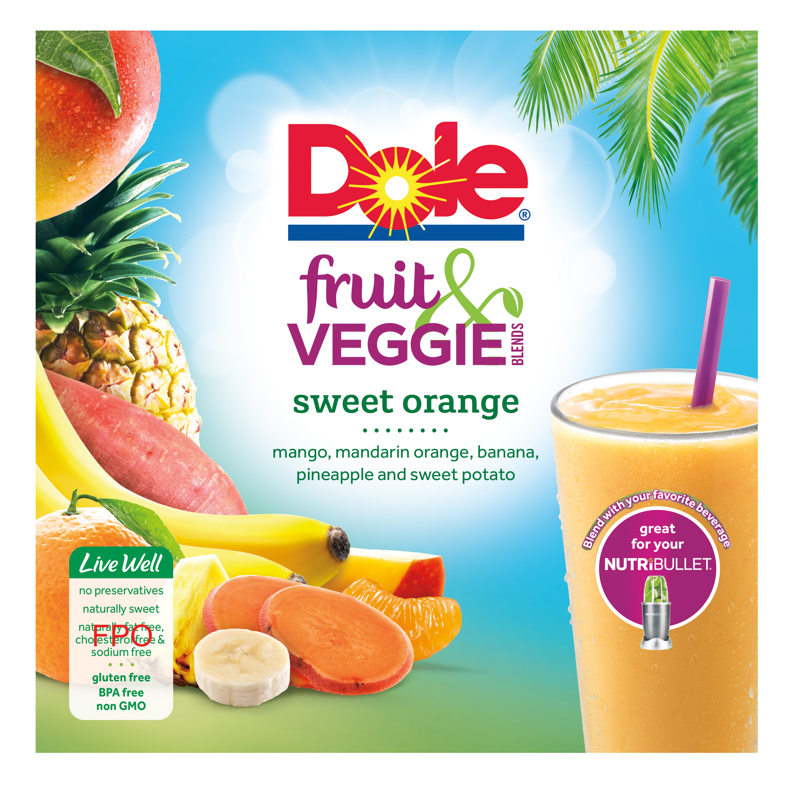 Dole Fruit and Veggie Blends Sweet Orange Layout F1 CMYK